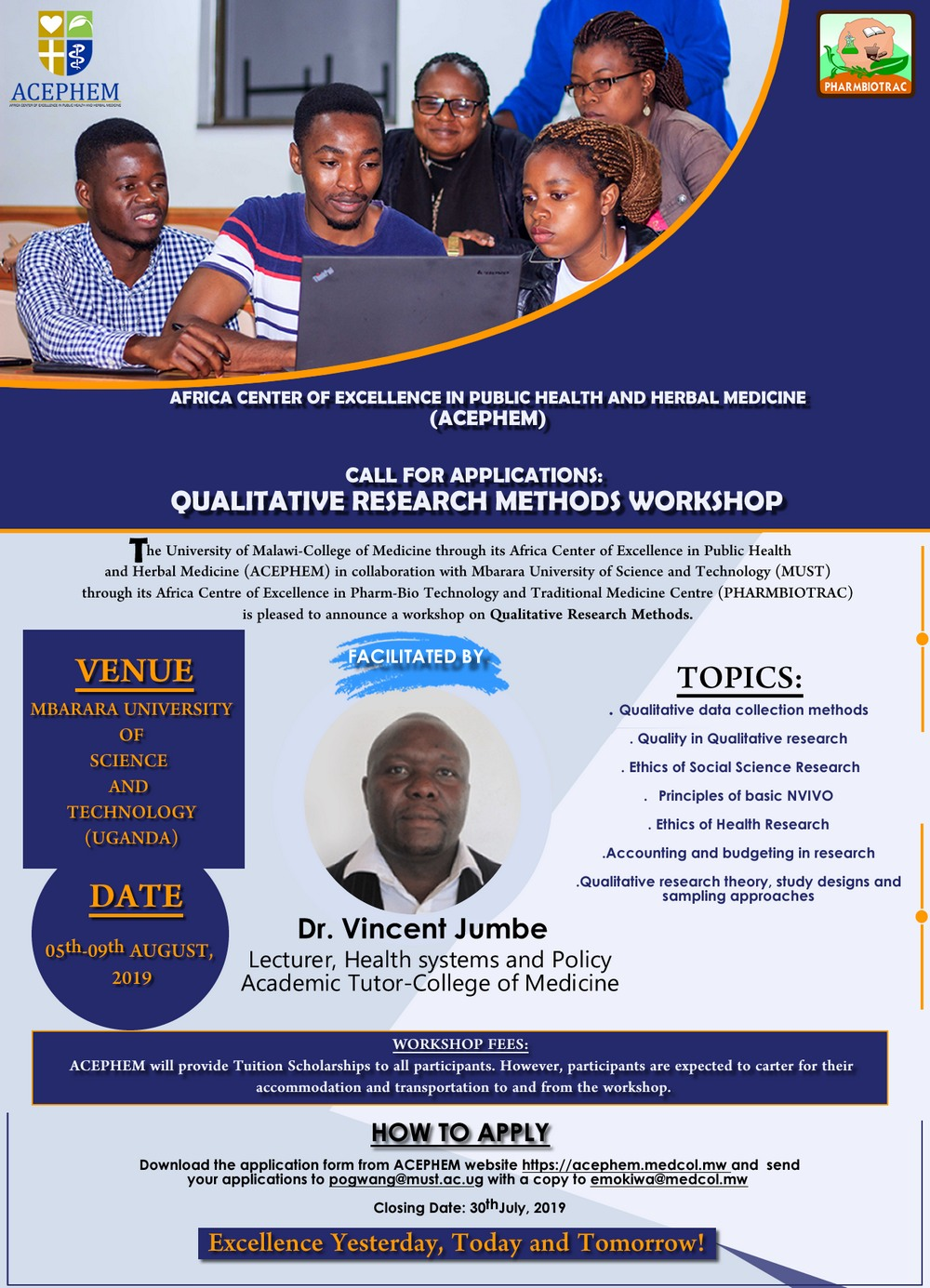 Qualitative Research Methods Workshop – Call for Applications