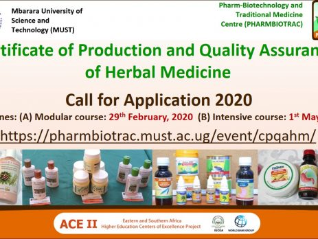 Call for Application: Certificate of Production and Quality Assurance of Herbal Medicine (CPQAHM)