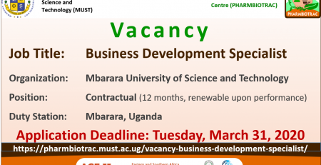 Vacancy Business Development Specialist 2020