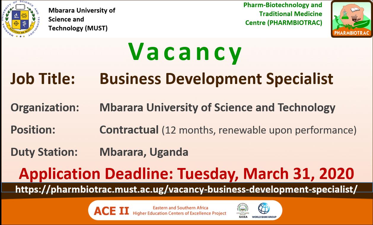 Vacancy Business Development Specialist 2020